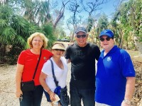 Rev. Debra and Kamy with Irene and Paul at St. Columba in Marathon